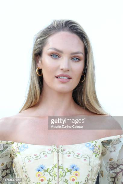 Candice Swanepoel attends a photocall at the 76th Venice Film Festival on August 27, 2019 in Venice, Italy.