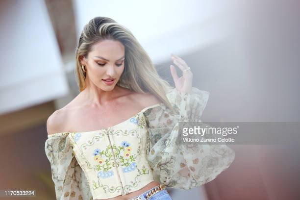 Candice Swanepoel attends a photocall at the 76th Venice Film Festival on August 27 2019 in Venice Italy