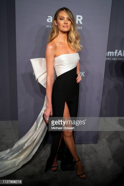 Candice Swanepoel attends the 2019 amfAR New York Gala at Cipriani Wall Street on February 06 2019 in New York City