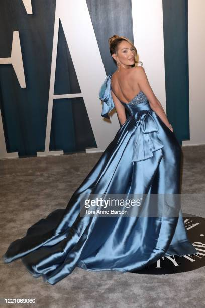 Candice Swanepoel attends the 2020 Vanity Fair Oscar Party at Wallis Annenberg Center for the Performing Arts on February 09 2020 in Beverly Hills...