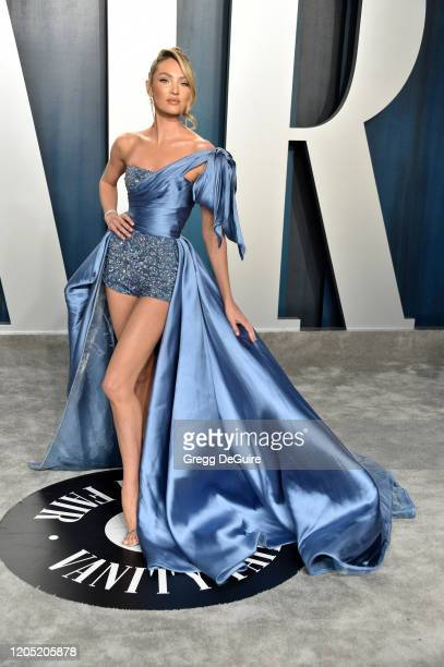 Candice Swanepoel attends the 2020 Vanity Fair Oscar Party hosted by Radhika Jones at Wallis Annenberg Center for the Performing Arts on February 09,...