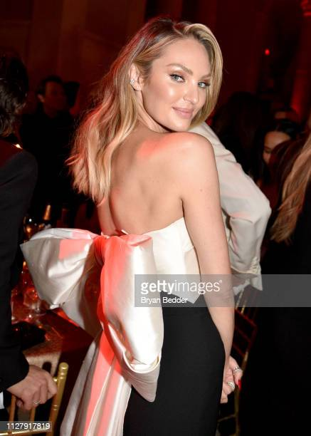 Candice Swanepoel attends the amfAR Gala New York 2019 at Cipriani Wall Street on February 06 2019 in New York City