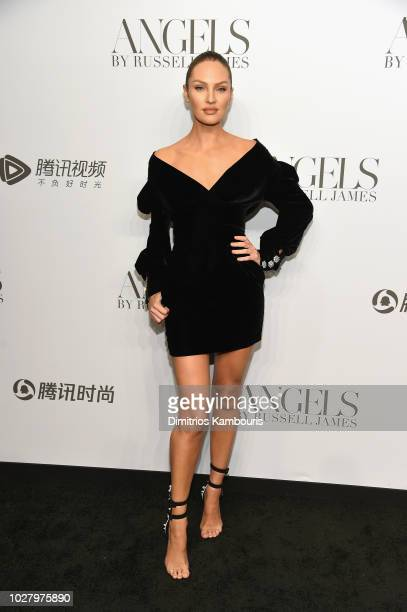 Candice Swanepoel attends the 'ANGELS' by Russell James book launch and exhibit hosted by Cindy Crawford and Candice Swanepoel at Stephan Weiss...