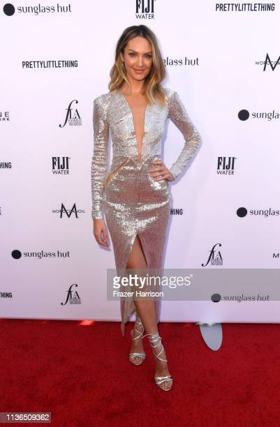 Candice Swanepoel attends The Daily Front Row's 5th Annual Fashion Los Angeles Awards at Beverly Hills Hotel on March 17 2019 in Beverly Hills...