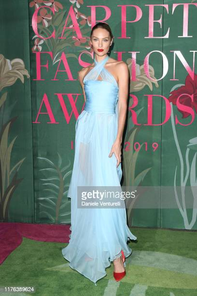 Candice Swanepoel attends the Green Carpet Fashion Awards during the Milan Fashion Week Spring/Summer 2020 on September 22 2019 in Milan Italy
