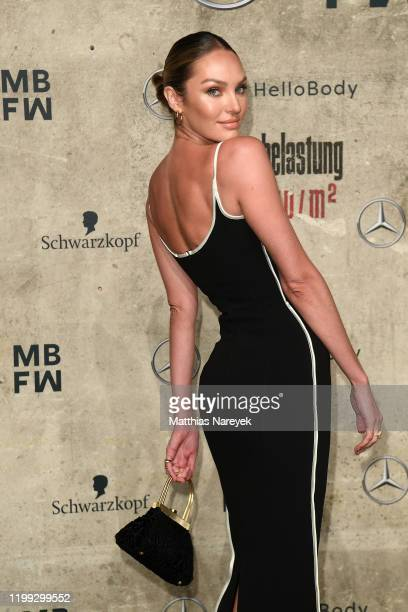 Candice Swanepoel attends the MercedesBenz presents Fashion Talents from South Africa show during Berlin Fashion Week Autumn/Winter 2020 at Kraftwerk...