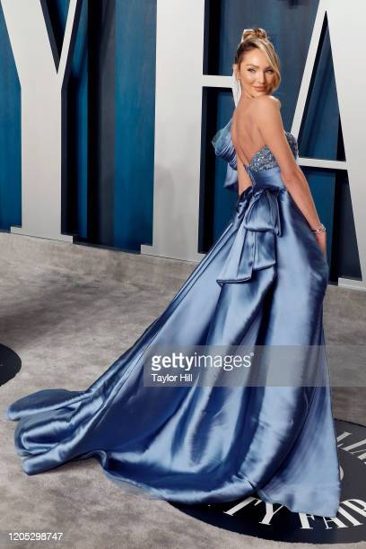 Candice Swanepoel attends the Vanity Fair Oscar Party at Wallis Annenberg Center for the Performing Arts on February 09 2020 in Beverly Hills...