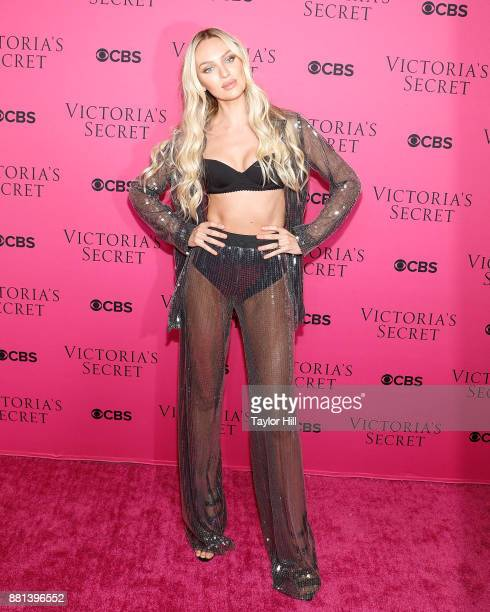 Candice Swanepoel attends the Victoria's Secret Viewing Party Pink Carpet celebrating the 2017 Victoria's Secret Fashion Show in Shanghai at Spring...