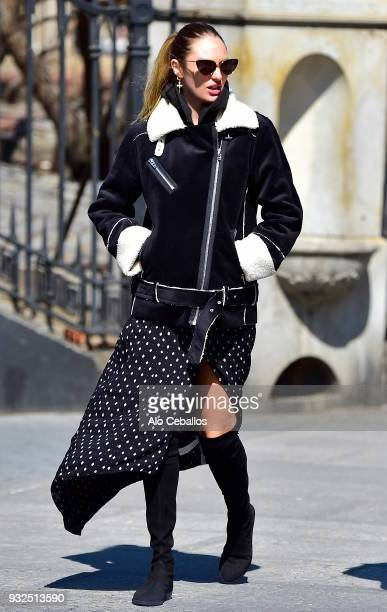 Candice Swanepoel is seen in Soho on March 15 2018 in New York City