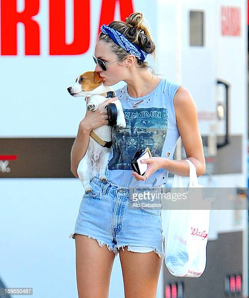 Candice Swanepoel is sighted on January 15, 2013 in Miami Beach, Florida.