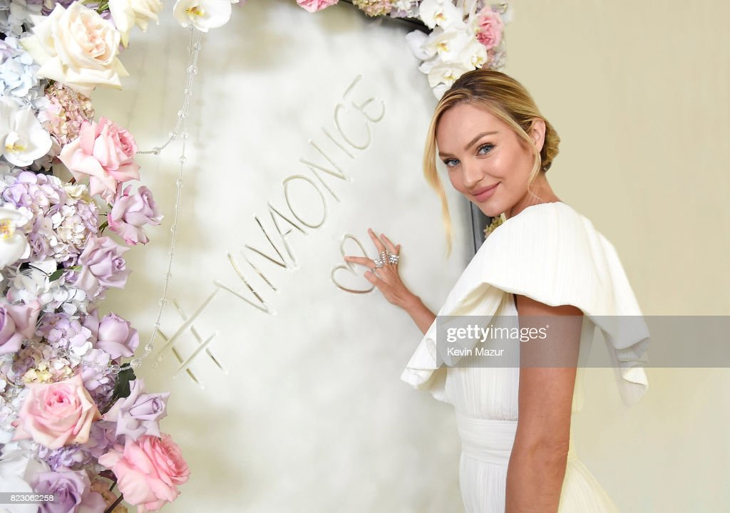 Candice Swanepoel Launches Viva La Juicy Glace Fragrance : News Photo
