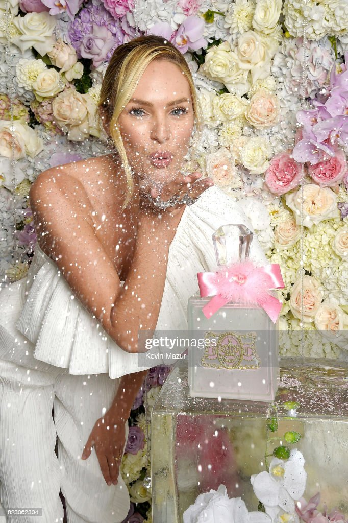 Candice Swanepoel Launches Viva La Juicy Glace Fragrance : News Photo