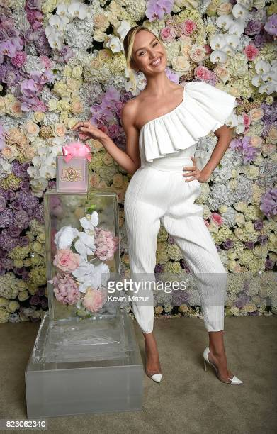 Candice Swanepoel launches Viva La Juicy Glace fragrance at The Edition Hotel in July 2017 in New York City