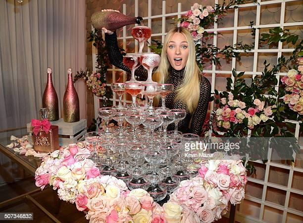 Candice Swanepoel launches Viva La Juicy Rose fragrance at Nomo Soho Hotel on January 28 2016 in New York City