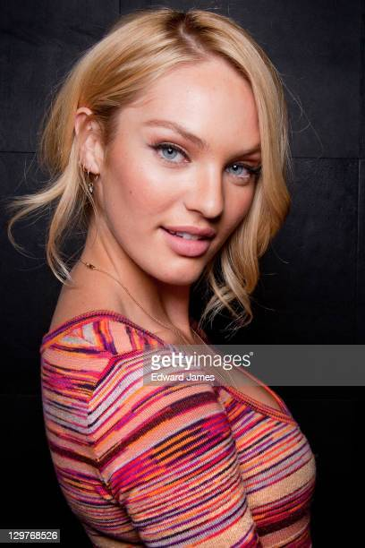 Candice Swanepoel poses at Victoria's Secret Holiday 2011 Collection Launch on October 20 2011 in Toronto Canada
