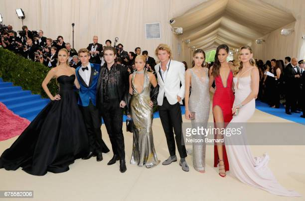Candice Swanepoel Presley Gerber Gabriel Kane Sofia Richie Jordan Kale Barrett Joans Smalls and Behati Prinsloo attend the 'Rei Kawakubo/Comme des...