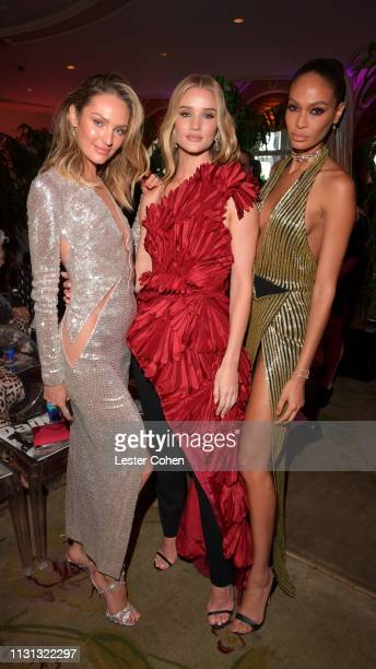 Candice Swanepoel Rosie HuntingtonWhiteley and Joan Smalls with FIJI Water at the 5th Annual Fashion Los Angeles Awards on March 17 2019 in Los...