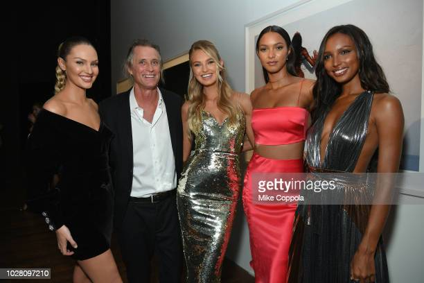 Candice Swanepoel Russell James Romee Strijd Lais Ribeiro and Jasmine Tookes attend the 'ANGELS' by Russell James book launch and exhibit hosted by...