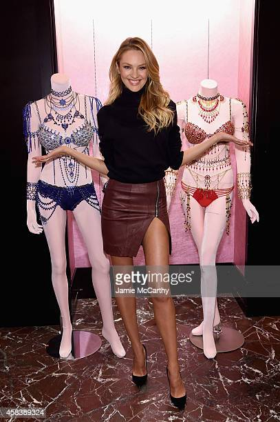 Candice Swanepoel Shares Victoria's Secret Holiday Gift Picks on November 4 2014 in New York City