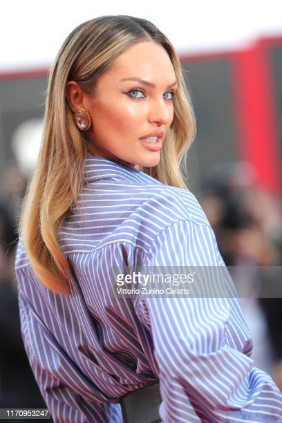 Candice Swanepoel walks the red carpet ahead of the Marriage Story screening during during the 76th Venice Film Festival at Sala Grande on August 29...