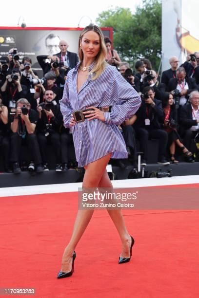 """Candice Swanepoel walks the red carpet ahead of the """"Marriage Story"""" screening during during the 76th Venice Film Festival at Sala Grande on August..."""
