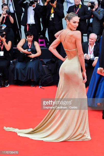 Candice Swanepoel walks the red carpet ahead of the opening ceremony during the 76th Venice Film Festival at Sala Casino on August 28, 2019 in...