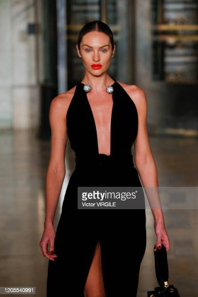 Candice Swanepoel walks the runway at the Oscar De La Renta Ready to Wear Fall/Winter 20202021 during New York Fashion Week on February 10 2020 in...