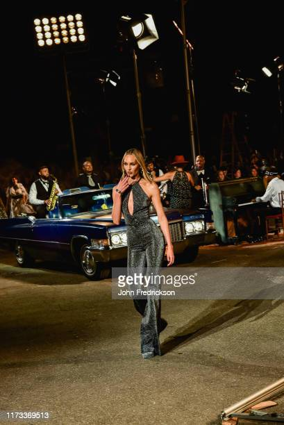 Candice Swanepoel walks the runway at the Tommy X Zendaya runway show at The Apollo Theater on September 08 2019 in New York City
