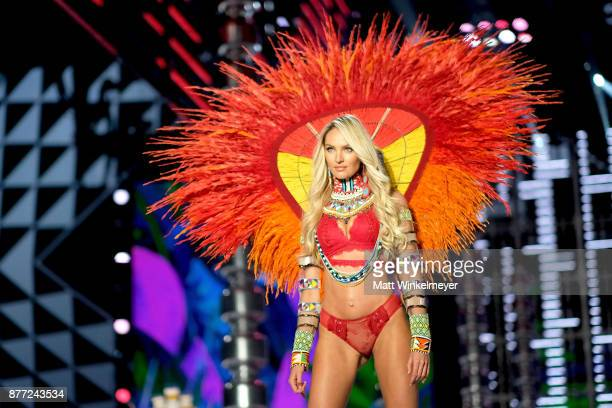 Candice Swanepoel walks the runway during the 2017 Victoria's Secret Fashion Show In Shanghai at MercedesBenz Arena on November 20 2017 in Shanghai...