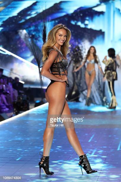 Candice Swanepoel walks the runway during the 2018 Victoria's Secret Fashion Show at Pier 94 on November 8 2018 in New York City