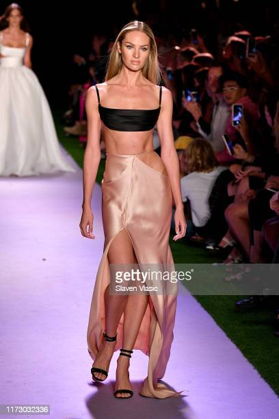 Candice Swanepoel walks the runway for Brandon Maxwell during New York Fashion Week The Shows on September 07 2019 in New York City