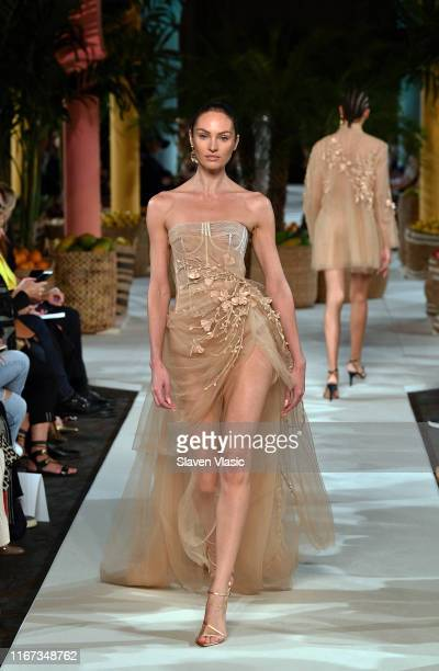 Candice Swanepoel walks the runway for Oscar de la Renta during New York Fashion Week: The Shows on September 10, 2019 in New York City.