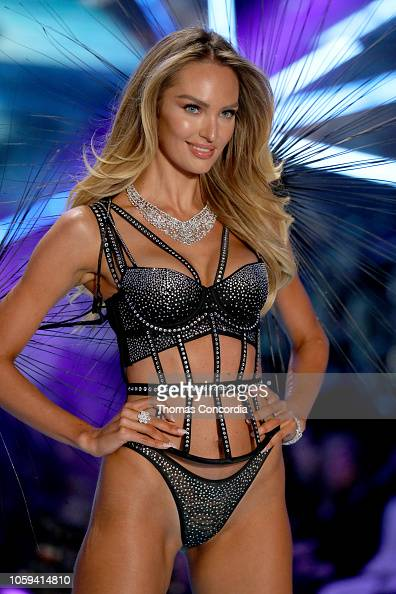 2f006d03aa Candice Swanepoel walks the runway wearing Swarovski in the 2018... News  Photo