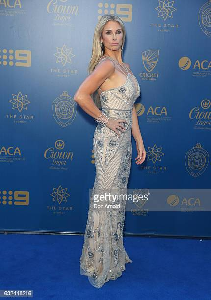Candice Warner arrives ahead of the Allan Border Medal at on January 23 2017 in Sydney Australia