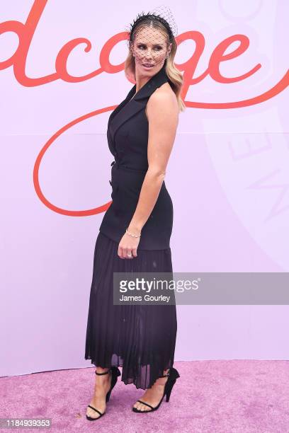 Candice Warner attends Derby Day at Flemington Racecourse on November 02 2019 in Melbourne Australia