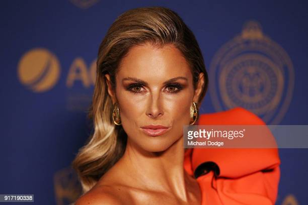 Candice Warner poses at the 2018 Allan Border Medal at Crown Palladium on February 12 2018 in Melbourne Australia