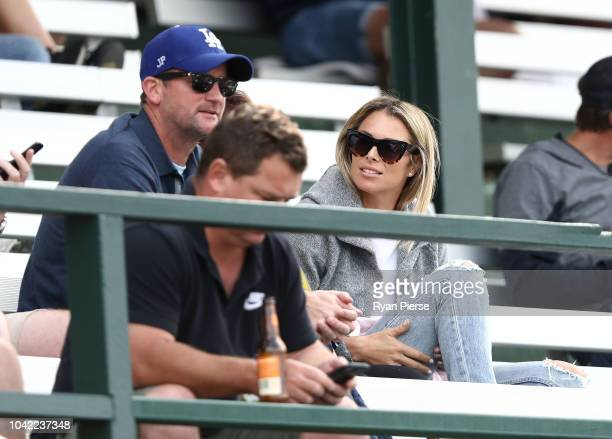 Candice Warner wife of David Warner of Randwick Petersham looks on during the NSW First Grade Club Cricket match between Randwick Petersham and St...