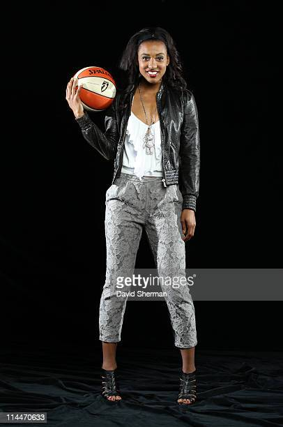 Candice Wiggins of the Minnesota Lynx poses for portraits during 2011 Media Day on May 20 2011 at the Minnesota Timberwolves and Lynx LifeTime...