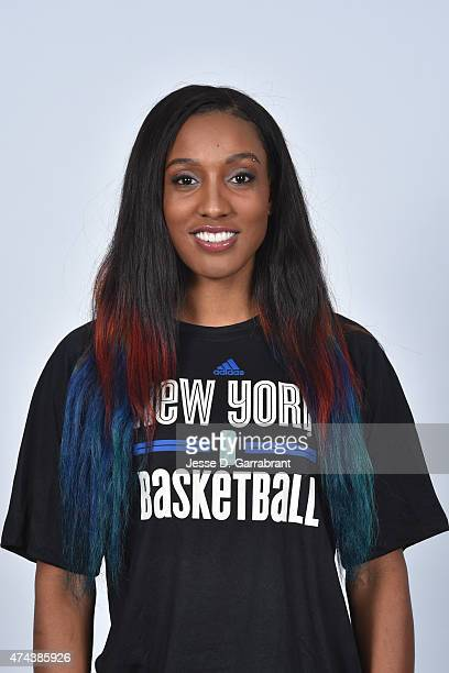 Candice Wiggins of the New York Liberty poses for a head shot during media day on May 21 2015 at Madison Square Garden in New York New York NOTE TO...