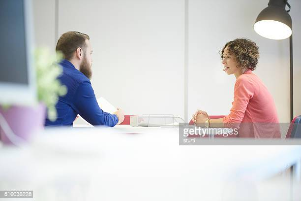 candid offce meeting