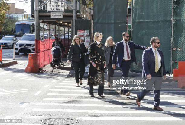 Candid photo of Kelly Craft, the United States Ambassador to the United Nations on her way to a Meeting outside the UN Headquarters in New York,...