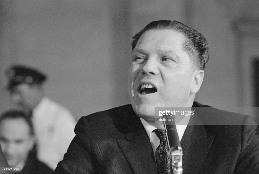 A candid photo of Teamsters' President James R. Hoffa ...
