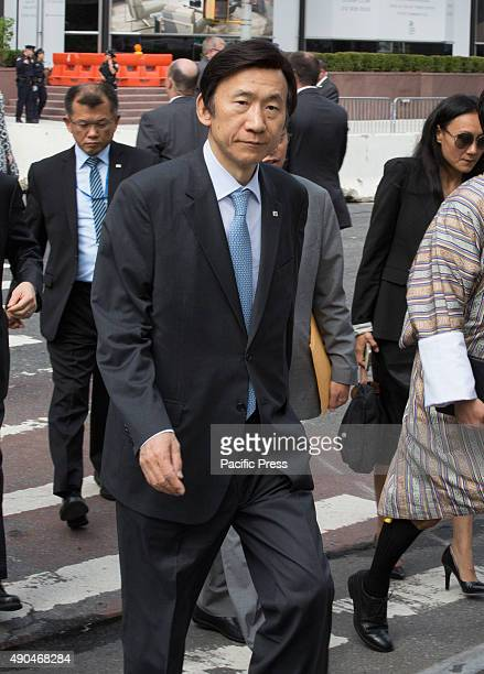 Candid photos of South Korea Foreign Minister Yun Byung-se during the first day of the general debate of the General Assembly's seventieth session...