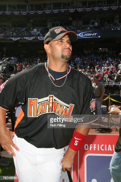 Candid portrait of Albert Pujols of the St Louis Cardinals during the GATORADE AllStar Workout Day at ATT Park in San Francisco California on July 9...
