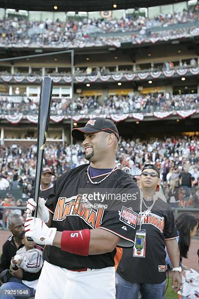 Candid portrait of Albert Pujols of the St Louis Cardinals during the Home Run Derby at ATT Park in San Francisco California on July 9 2007