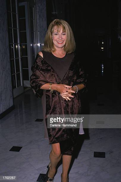 Candid portrait of American actor Catherine Hicks at the American Oceans Campaign's awards dinner Beverly Wilshire Hotel Los Angeles May 14 1999