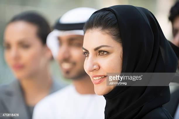 Candid portrait of Arab Emirati woman