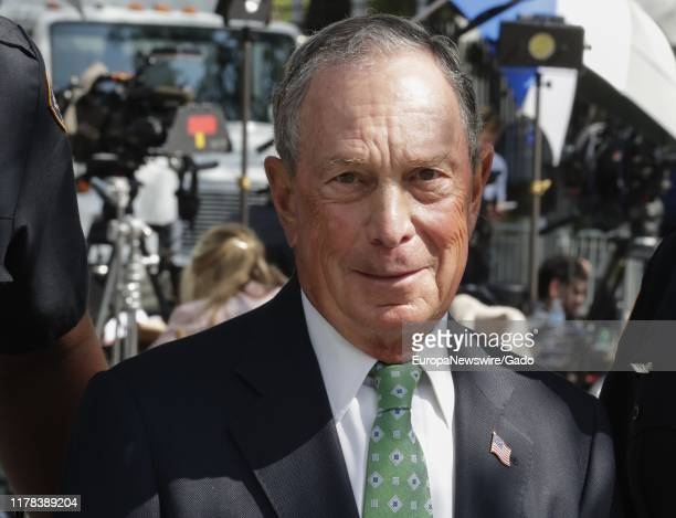 Candid portrait of Ex New York City Mayor Michael Bloomberg during the 74th session of the General Assembly at the UN Headquarters in New York,...