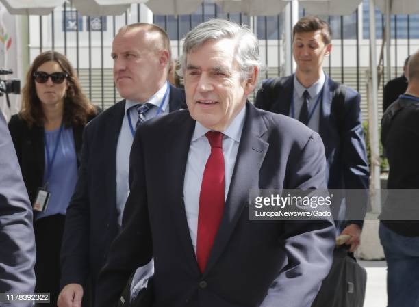 Candid portrait of Gordon Brown, Former British Prime Minister, during the 74th session of the General Assembly at the UN Headquarters in New York,...
