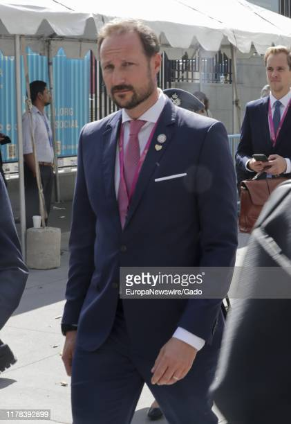 Candid portrait of Haakon, Crown Prince of Norway during the 74th session of the General Assembly at the UN Headquarters in New York, September 24,...